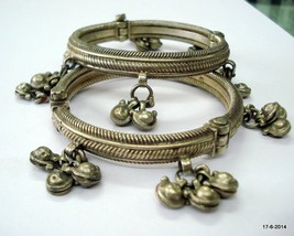 vintage antique ethnic tribal old silver bangle bracelet traditional jew... - $820.71