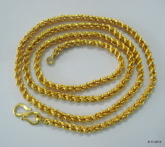 ethnic 20k gold chain necklace from rajasthan india - $1,187.01