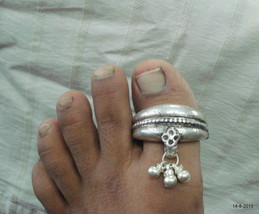vintage toe ring antique toe ring tribal old silver big toe ring gypsy j... - $197.01