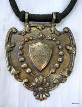 vintage antique old silver gold vermeil pendant necklace india - $434.61