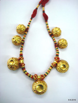 vintage 22kt gold beads Necklace traditional tribal jewelry - $3,464.01