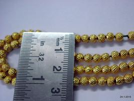 22K gold beads necklace bracelet elemants 30 pcs. handmade - $246.51
