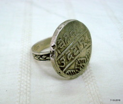 vintage ring antique old silver ring coin ring cocktail ring - $127.71