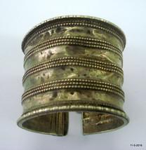 vintage antique tribal old silver bracelet bangle cuff belly dance jewellery - $296.01
