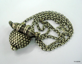 vintage antique silver necklace chain pendant tribal old silver jewellery - $147.51