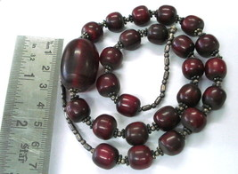vintage bakelite & silver beads necklace from rajasthan india - €108,96 EUR