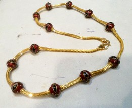 ethnic 20kt gold necklace gold chain necklace traditional jewellery - $4,851.00
