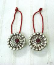 vintage antique tribal old silver ear plug earrings gypsy hippie jewelry - $143.55