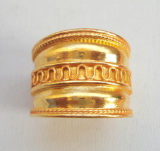 ethnic sterling silver gold vermeil gold gilded ring engagement band ring - $116.82