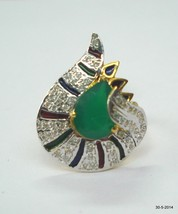 ethnic 18k gold ring handmade gold ring traditional jewelry of india - $737.55