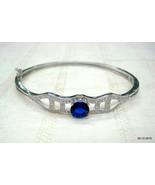 ethnic sterling silver bangle bracelet crystal gemstone bracelet bangle ... - $137.61