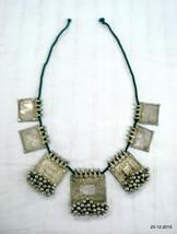 rare vintage antique old silver pendant necklace bangara tribal jewellery - $440.55