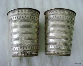 vintage antique ethnic tribal old silver bracelet bangle cuff belly dance jewelr - $890.01