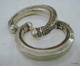 vintage antique ethnic old silver bracelet bangle cuff indiantribal jewelry - $394.02