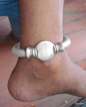 Old silver Anklet Feet Bracelet Bangle vintage antique indiantribal jewelry - £548.87 GBP