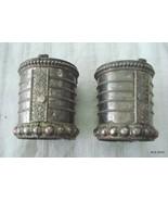 vintage antique tribal old silver cuff bracelet bangle belly dance rabar... - $593.01