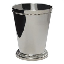 Mint Julep Cups, Set of 4 Beaded silverplated b... - $19.99