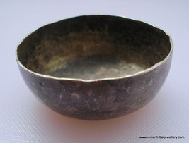 vintage antique collectible old silver bowl small rajasthan india - $137.61