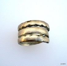 old silver ring vintage antique ethnic tribal belly dance jewelry - $78.21