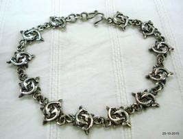 vintage silver bracelet dolphin fish design silver cuff bracelet handmade jewell - $88.11