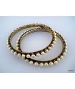 vintage antique tribal old silver gold vermeil gold gilded bangle bracel... - $335.61