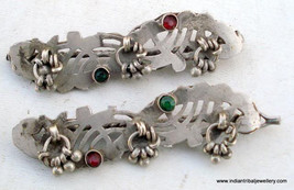 Ethnic Tribal Old Silver Hairpin Clip Hair Ornament - $94.05