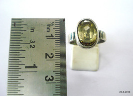 antique tribal old silver Ring Citrine Gemstone Topaz stone ring vintage - $98.01