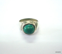 vintage antique tribal old silver Ring Turquoise Gemstone Firoza stone ring - $98.01