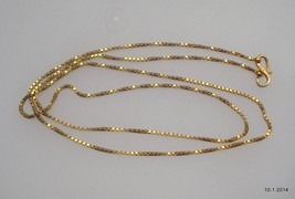 vintage antique 20k gold chain necklace from rajasthan india handmade - $1,286.01