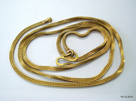 20k gold chain necklace vintage antique old indian jewelry - $1,781.01