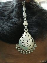 vintage antique tribal old silver hair jewellery tika head ornament head piece - $137.61