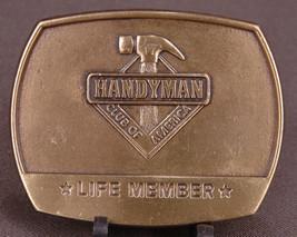 Handyman Club of America Belt Buckle-Life Member-1996-Hammer-Tools-Gold ... - $18.68