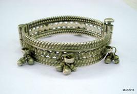 vintage old silver bangle bracelet antique tribal bellydance jewellery - £140.37 GBP