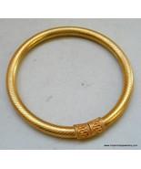 Traditional design gold gilded silver Bracelet or Bangle rajasthan india - $127.71