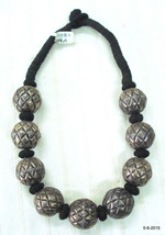 ethnic tribal old silver beads necklace traditional handmade jewellery - $593.01