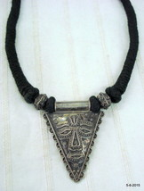 ethnic old silver pendant necklace traditional handmade tribal jewellery - $127.71