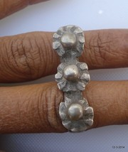 vintage antique ethnic tribal old silver double ring belly dance gypsy j... - $118.80