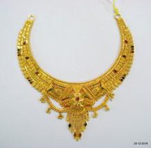 Traditional design 22kt gold necklace handmade gold choker filigree work - $2,285.91
