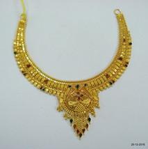 Traditional design 22kt gold necklace handmade gold choker filigree work - $1,644.39