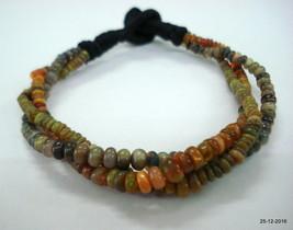 vintage opal beads bracelet strand jade gemstones bracelet 3 line - £103.98 GBP