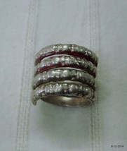 vintage antique ethnic tribal old silver ring belly dance jewelry india - $97.02