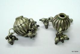 vintage antique tribal old silver beads necklace bracelet elements - $88.11