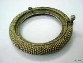 vintage antique ethnic tribal old silver bangle bracelet cuff handmade - £103.23 GBP