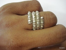 vintage antique ethnic tribal old silver ring rajasthan india handmade - $67.32
