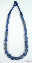 vintage lapis gemstone beads necklace rajasthan india - $98.01
