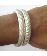 vintage antique tribal old silver bracelet bangle set 2pc belly dance je... - $285.12