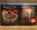 Attack On Titan The Movie: Parts 1&2 (4-Disc Blu-ray/DVD, 2016)+Slipcovers.Rare