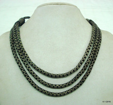 vintage antique tribal old necklace metal necklace traditional jewellery - $197.01