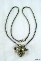 vintage antique tribal silver necklace chain pendant old silver jewellery - $143.55