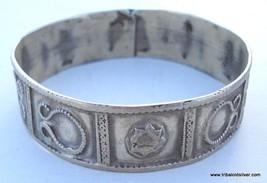 vintage antique tribal old silver bracelet bangle india - $127.71